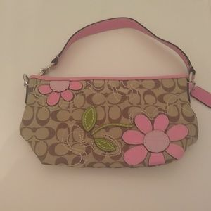 Coach pink flower mini satchel